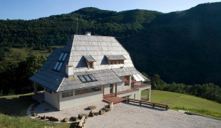 The Drina river house