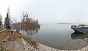 The Danube river bank