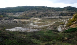 Quartz Sand Open Pit Mine in Rgotina