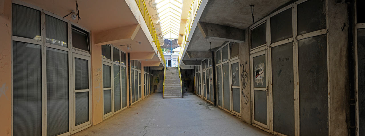 Abandoned Shopping Center in Golubac