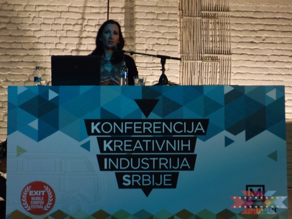 Ana Ilic, Executive Director of the Serbia Film Commission spoke today at the Creative Industries Conference