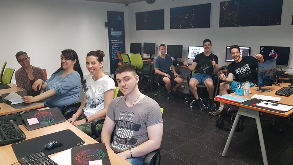 STUDENTS FROM ESCAPE STUDIOS IN CRATER VFX TRAINING CENTER