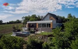 Riverside pool villa